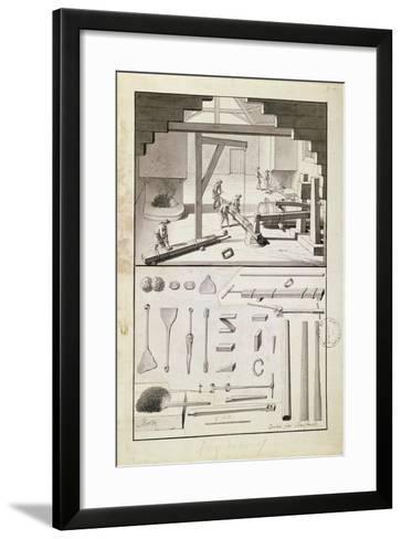Foundry, Drawing for the 'Description Des Arts Et Métiers'--Framed Art Print