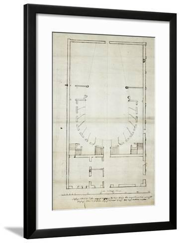Draft Amendments and Additions to Theatre in Novara--Framed Art Print