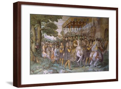 Entrance of Emperor Charles V--Framed Art Print