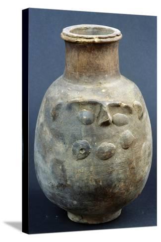 Terracotta Vase Depicting God Bes--Stretched Canvas Print