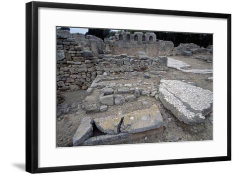 Sarcophagi in the Early Christian Basilica in Ampurias--Framed Art Print
