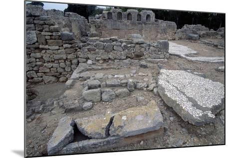 Sarcophagi in the Early Christian Basilica in Ampurias--Mounted Giclee Print