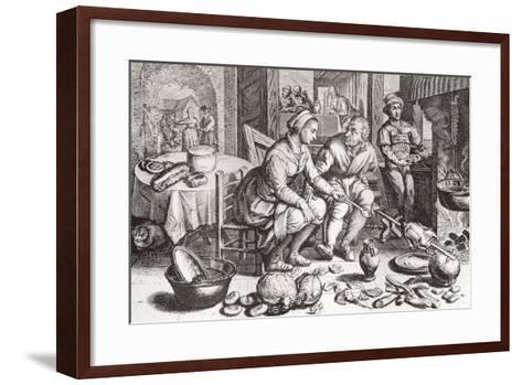 The Loving Couple--Framed Art Print