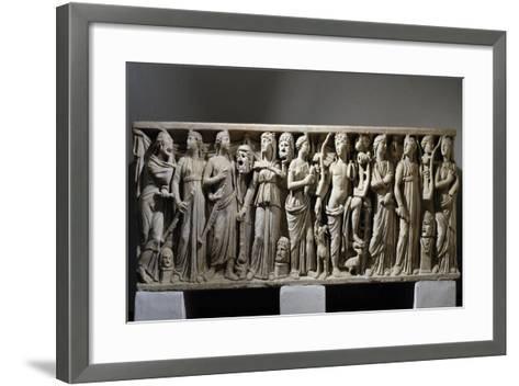 Sarcophagus of Julius Longinus--Framed Art Print
