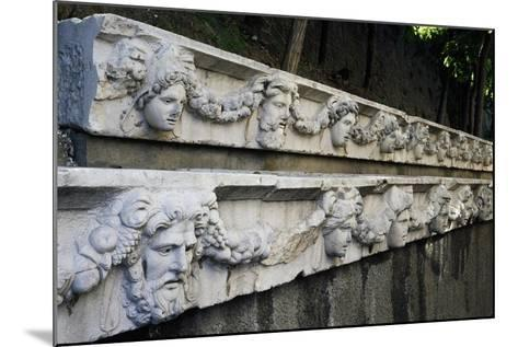 Marble Frieze with Male Heads and Fruit Garlands--Mounted Giclee Print