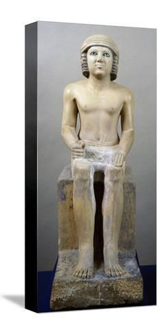 Male Figure Seated--Stretched Canvas Print