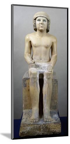 Male Figure Seated--Mounted Giclee Print