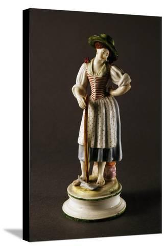 Figure of Peasant Woman--Stretched Canvas Print