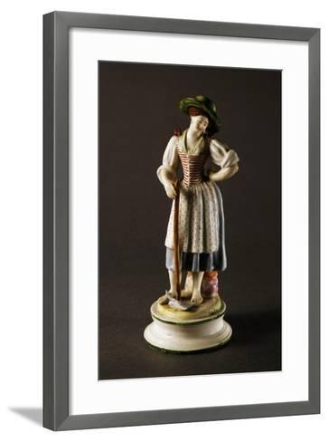 Figure of Peasant Woman--Framed Art Print