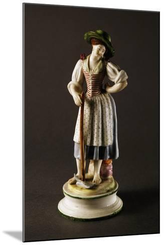 Figure of Peasant Woman--Mounted Giclee Print