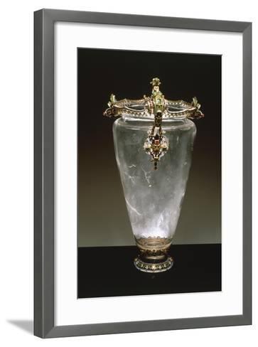 Rock Crystal Vase with Enameled Gold Mount--Framed Art Print
