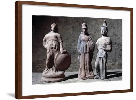 Votive Statuettes in Terracotta Depicting Athena--Framed Art Print