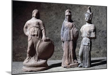 Votive Statuettes in Terracotta Depicting Athena--Mounted Giclee Print