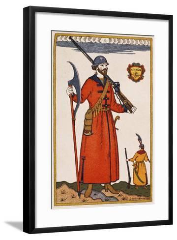 Sketch of Costume for Boris Godunov--Framed Art Print