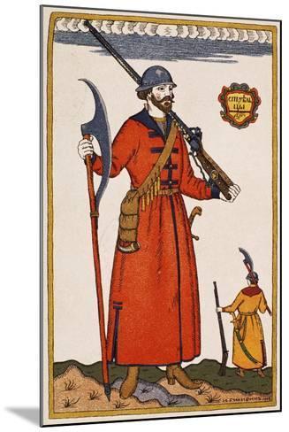 Sketch of Costume for Boris Godunov--Mounted Giclee Print