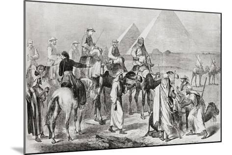 Victorian Tourists at the Pyramids of Giza--Mounted Giclee Print