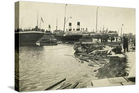 Dock in Mesina Port Destroyed by Earthquake--Stretched Canvas Print