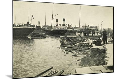 Dock in Mesina Port Destroyed by Earthquake--Mounted Giclee Print