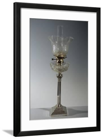 Lamp on Silver Column and Completed with Cut Crystal Bowl--Framed Art Print