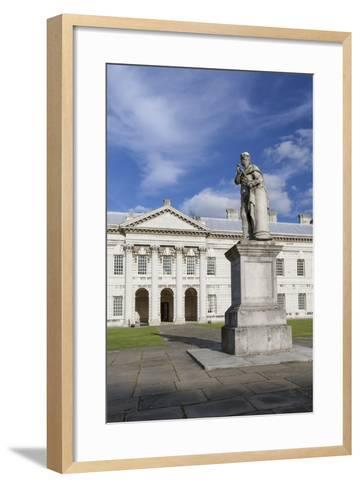 Statue of King George II as a Roman Emperor--Framed Art Print