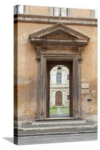 Door Leading to the Courtyard of the Studium Urbis--Stretched Canvas Print