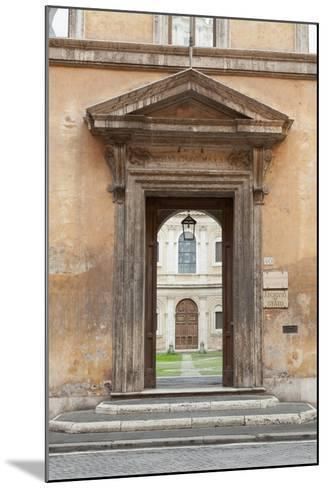 Door Leading to the Courtyard of the Studium Urbis--Mounted Giclee Print