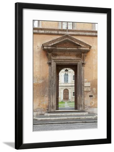 Door Leading to the Courtyard of the Studium Urbis--Framed Art Print