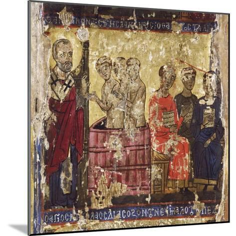 St Nicholas Baptising the First Christians with the Common Rite--Mounted Giclee Print