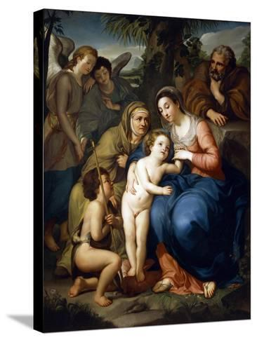 The Holy Family with Saint Elizabeth-Anton Raphael Mengs-Stretched Canvas Print