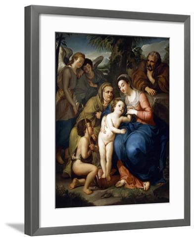 The Holy Family with Saint Elizabeth-Anton Raphael Mengs-Framed Art Print