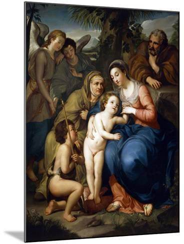 The Holy Family with Saint Elizabeth-Anton Raphael Mengs-Mounted Giclee Print