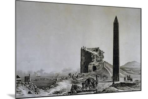 View of Obelisk of Cleopatra in Alexandria from Description of Egypt--Mounted Giclee Print