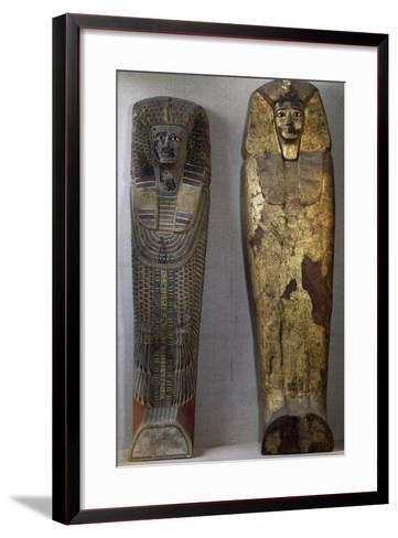 Lid of Sarcophagus of King Sekhemra-Heruermaat Initef to Left--Framed Art Print