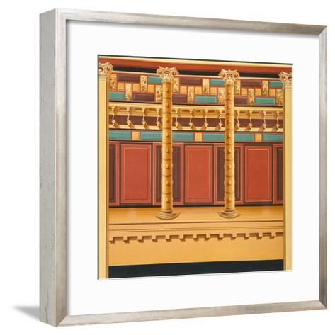 Reproduction of a Fresco, from the Houses and Monuments of Pompeii-Fausto and Felice Niccolini-Framed Art Print