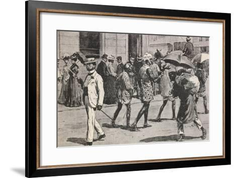 Illustration Depicting Implementation of Racial Laws in Johannesburg and Cape Town--Framed Art Print