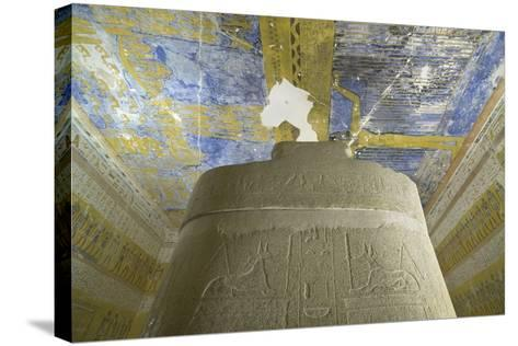 Tomb of Ramses VII, Sky-Goddess Nut and Astronomical Motifs in Burial Chamber from 20th Dynasty--Stretched Canvas Print