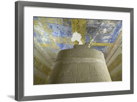 Tomb of Ramses VII, Sky-Goddess Nut and Astronomical Motifs in Burial Chamber from 20th Dynasty--Framed Art Print