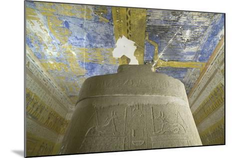 Tomb of Ramses VII, Sky-Goddess Nut and Astronomical Motifs in Burial Chamber from 20th Dynasty--Mounted Giclee Print