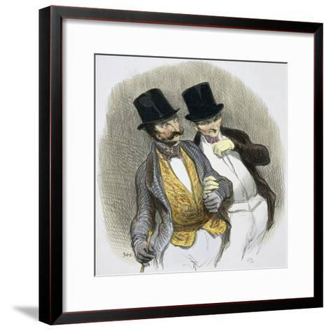 They Have Just Plucked Someone-Honore Daumier-Framed Art Print