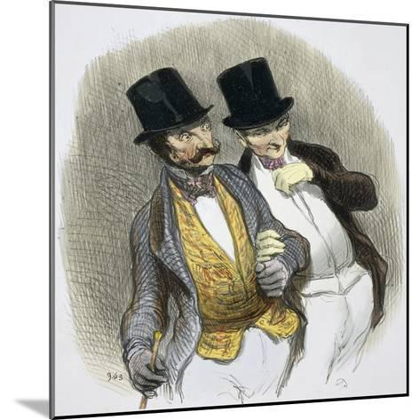 They Have Just Plucked Someone-Honore Daumier-Mounted Giclee Print
