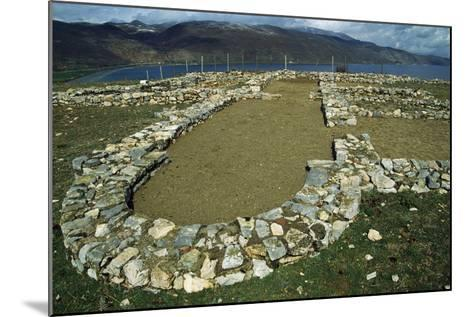 Ruins of the Early Christian Basilica in Lin on the Shore of Lake Ohrid--Mounted Giclee Print