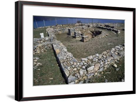 Ruins of the Early Christian Basilica in Lin on the Shore of Lake Ohrid--Framed Art Print