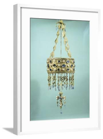 Votive Crown in Gold and Precious Stones from the Treasure of Guarrazar--Framed Art Print