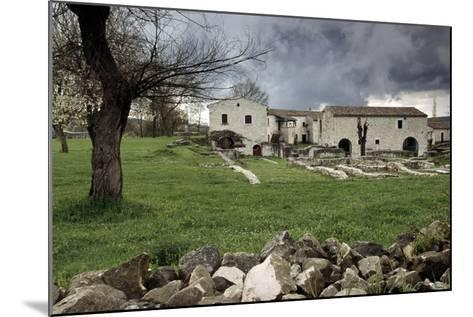 Rustic Farmhouses Incorporating Stones from the Near Ancient Roman City of Saepinum--Mounted Giclee Print