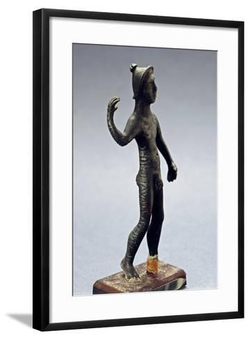Small Bronze Figurine with Paleovenetian Inscription from Lagole--Framed Art Print
