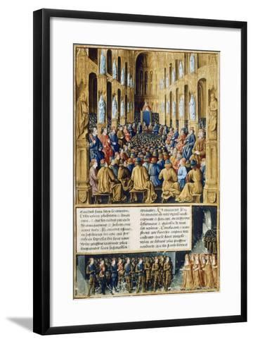 Urban II at Council of Clermont Announcing First Crusade in 1095--Framed Art Print