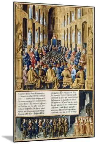Urban II at Council of Clermont Announcing First Crusade in 1095--Mounted Giclee Print