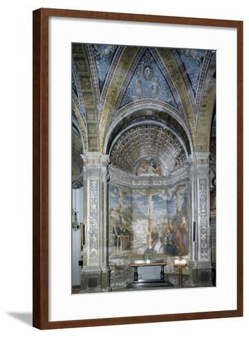 The Crucifixion and the Pietaes in the Chapel of the Crucifixion--Framed Art Print