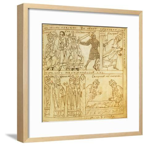 Henry Iv and the Anti-Pope Guibert--Framed Art Print