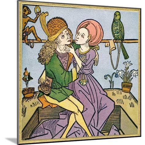 Lovers in the Middle Ages. from Illustrierte Sittengeschichte Vom Mittelalter Bis Zur Gegenwart--Mounted Giclee Print